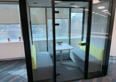 Sound proof booth - office furniture installation example