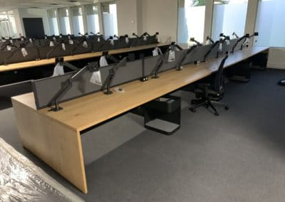 Open concept office furniture - no walls example