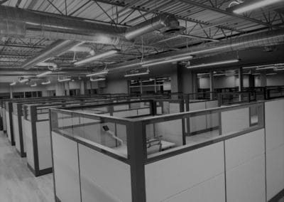 Large office space cubicles - office furniture installation example
