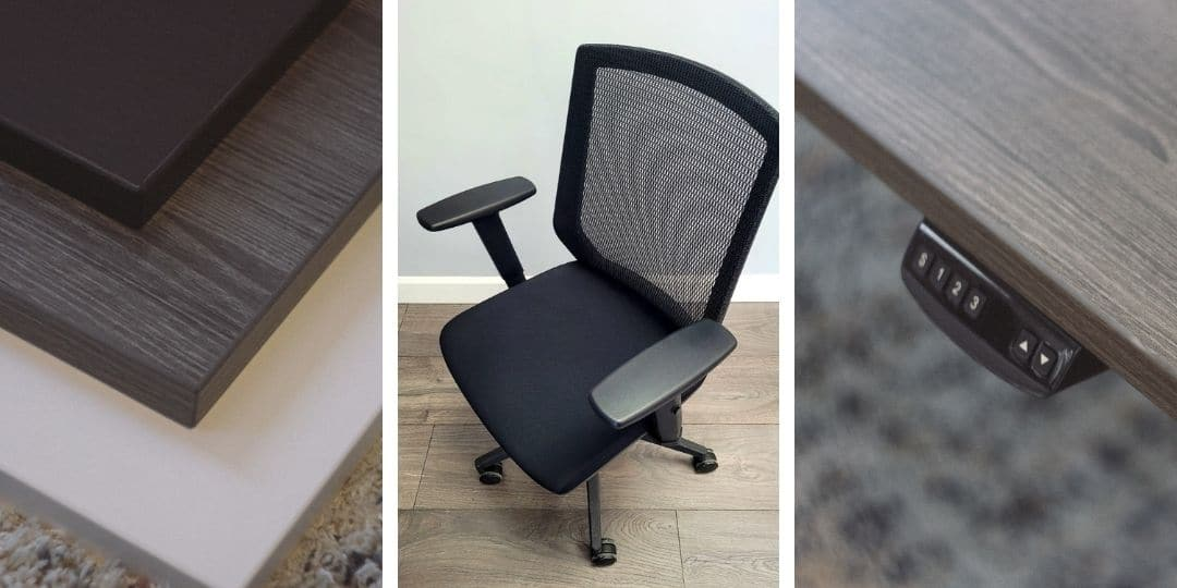 Home office furniture three panel image